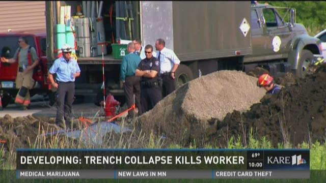 Trench collapse kills worker