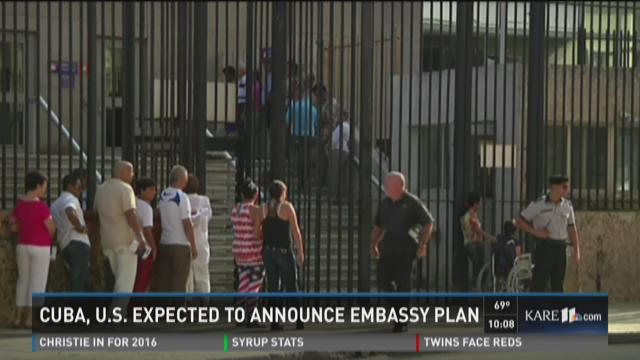 AP Source: US, Cuba to announce embassy openings Wednesday