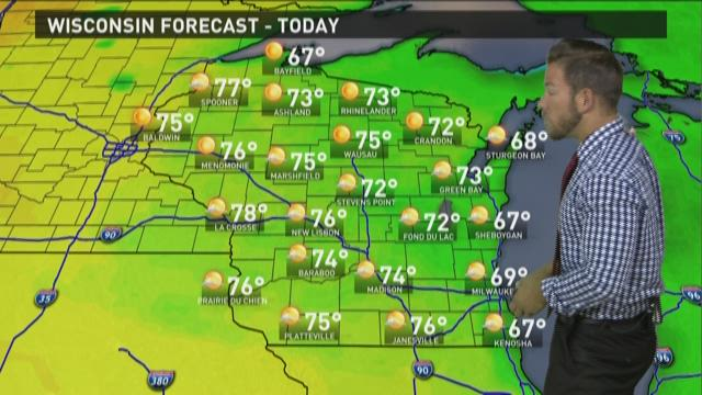 Wisconsin weather forecast for Wednesday, July 1