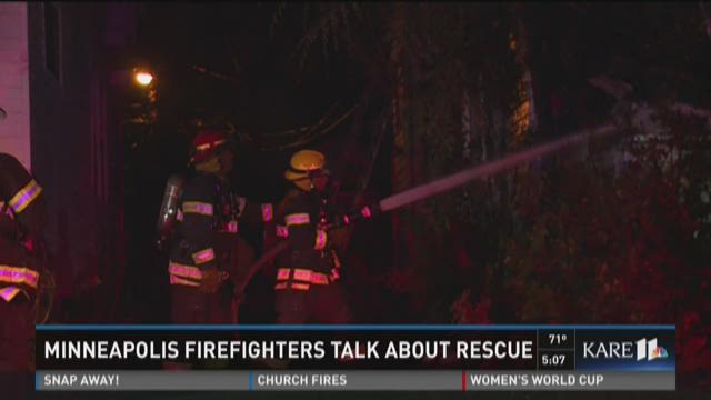 Minneapolis firefighters talk about rescue