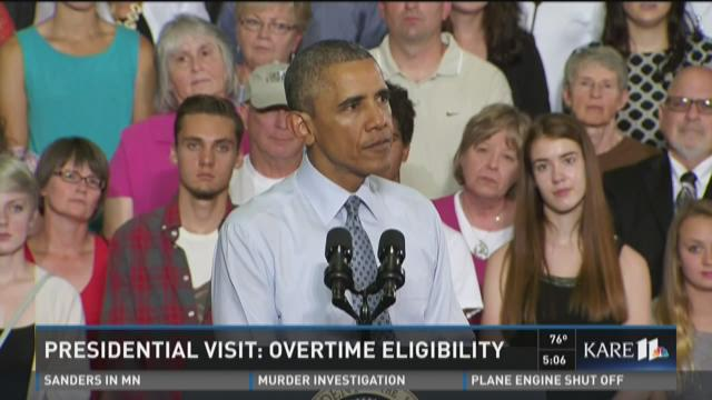 President Obama talks about overtime eligibility