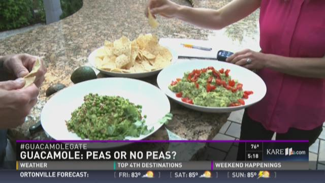 Taste test: guacamole with peas or not?