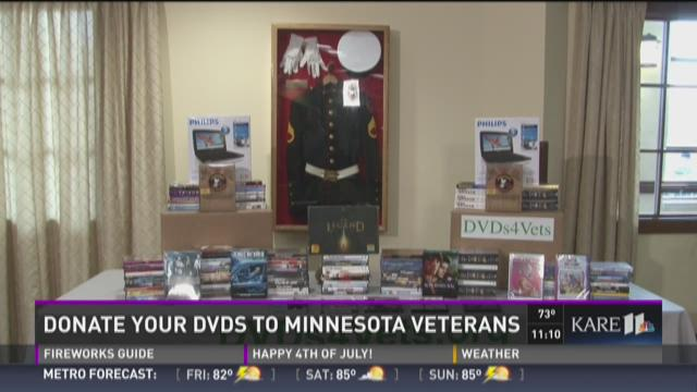 Donate DVDs to Minn. veterans