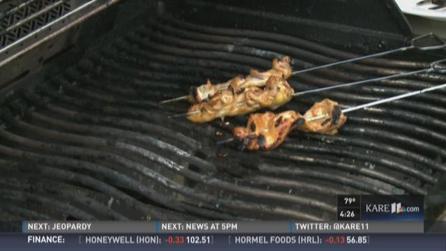 Terry John Zila's Chicken Satay on the grill