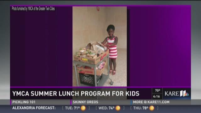 YMCA summer lunch program for kids