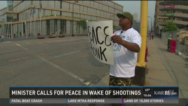Minister calls for peace in wake of shootings