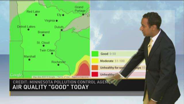 Midday weather forecast 7-7-15
