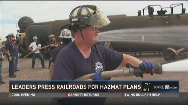 Leaders press railroads for hazmat plans