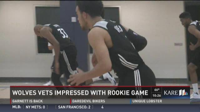 Timberwolves impressed with rookie game