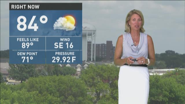 Kare 11 meteorologist belinda jensen with the afternoon weather update