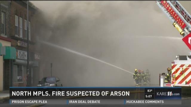 North Mpls. fire suspected of arson