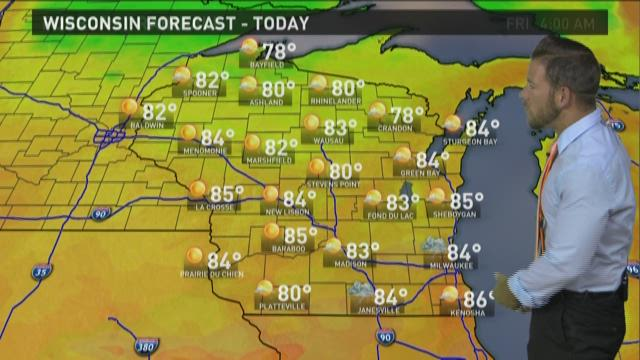 Wisconsin weather forecast for Wednesday, July 29