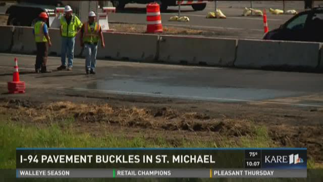 I-94 Pavement Buckles in St. Michael