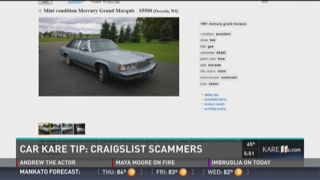Car KARE Tip: Avoiding scams on Craigslist