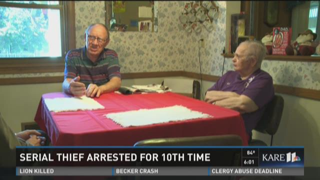 Elderly couple robbed by serial thief