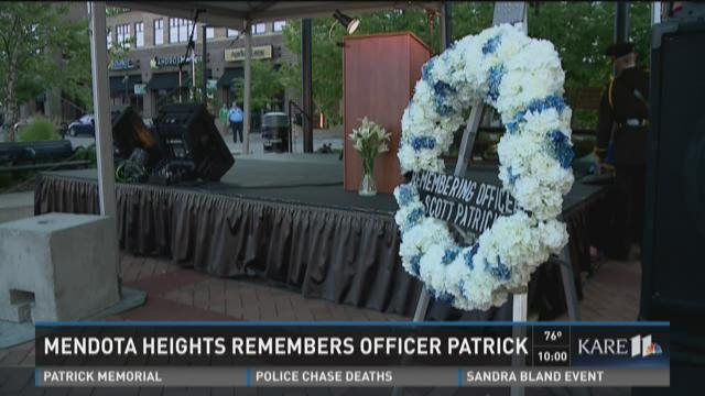 Mendota Heights vigil for Officer Scott Patrick
