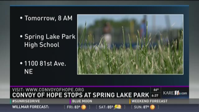 Convoy of Hope stops at Spring Lake Park
