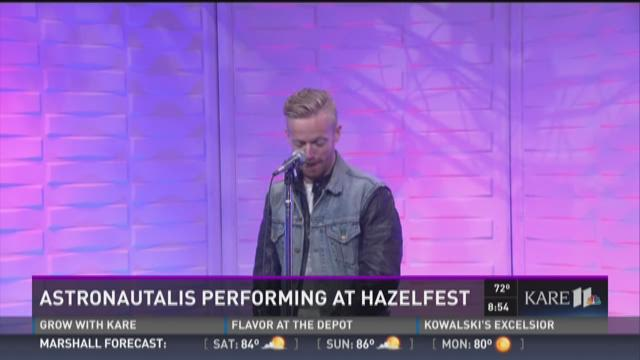 Astronautalis performs at Hazelfest