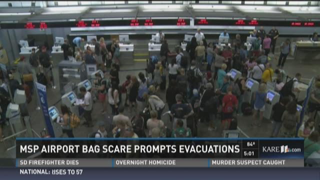 MSP Airport bag scare prompts evacuations