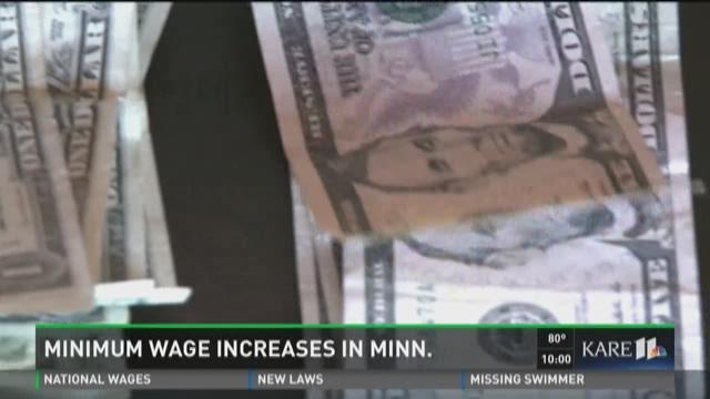 Minimum wage increases in Minn.