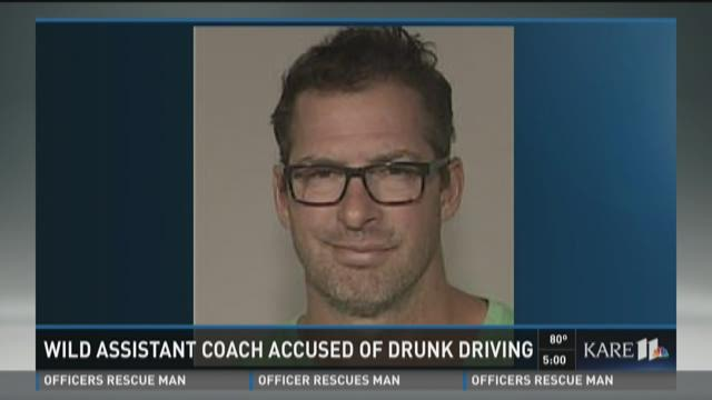 Wild assistant coach accused of drunk driving