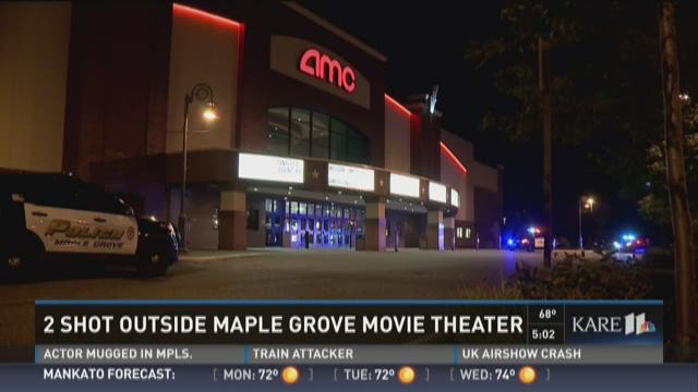 2 shot outside Maple Grove theater