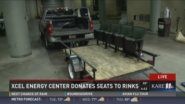 Xcel Energy Center donates seats to rinks across MN