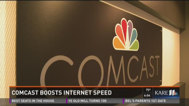 Comcast boosts internet speed