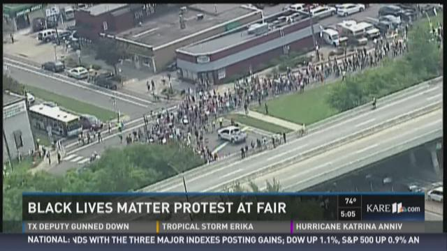 Black Lives Matter Protest at MN State Fair