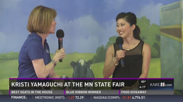 Kristi Yamaguchi at the MN State Fair