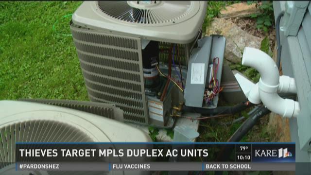Thieves target Mpls. duplex AC units