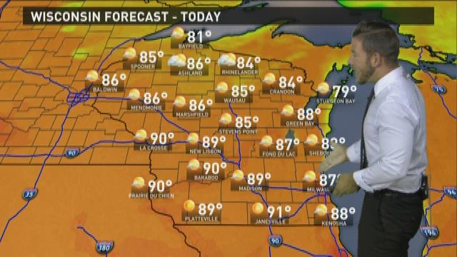 Wisconsin weather forecast for Tuesday, Sept. 1