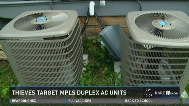 Thieves strip Mpls. AC units during heat wave