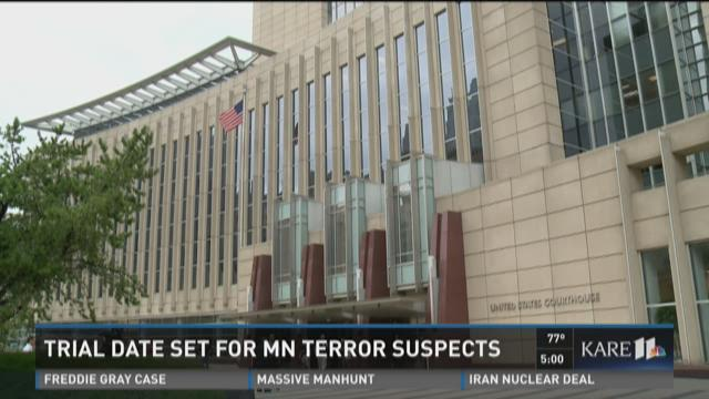 Trial date set for Minn. terror suspects
