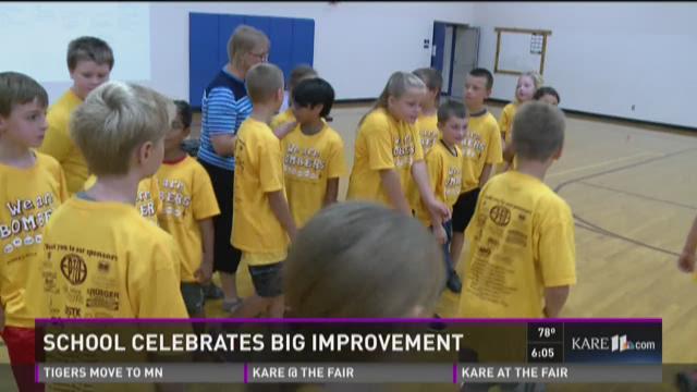 Minnesota school celebrates big improvement