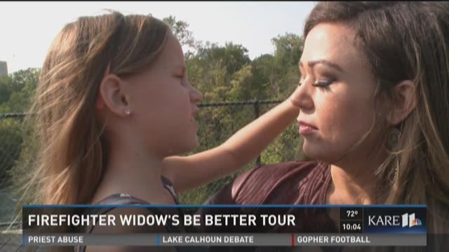 Firefighter widow's 'Be Better Tour'