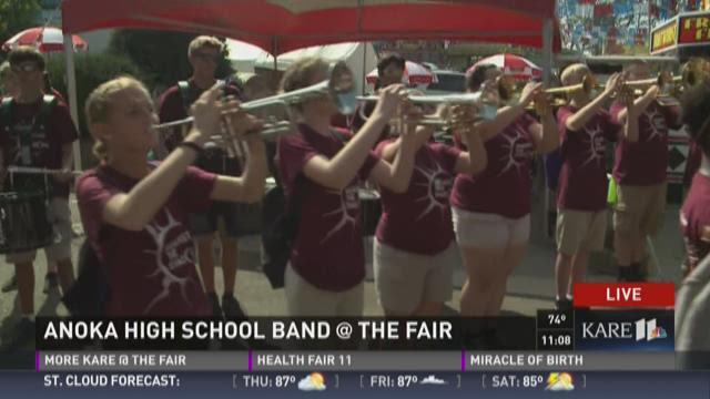 Anoka HS Band rocks the KARE 11 Barn