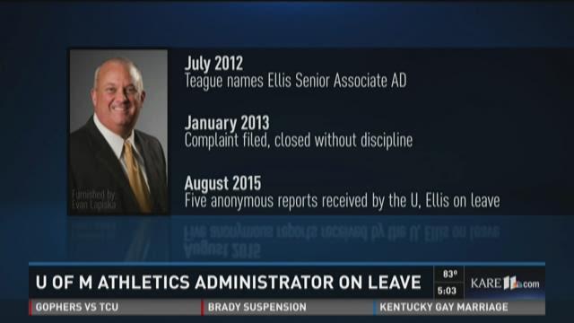 U of M athletics official on leave