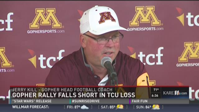 Gophers lose opener to TCU