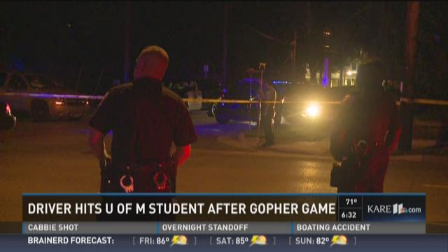U of M student hit by taxi after Gopher game