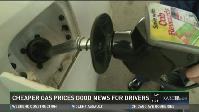 Cheaper gas prices good news for drivers