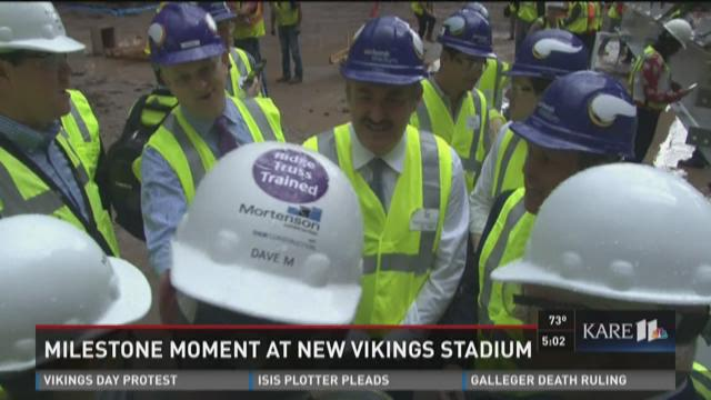 Milestone moment at new Vikings Stadium