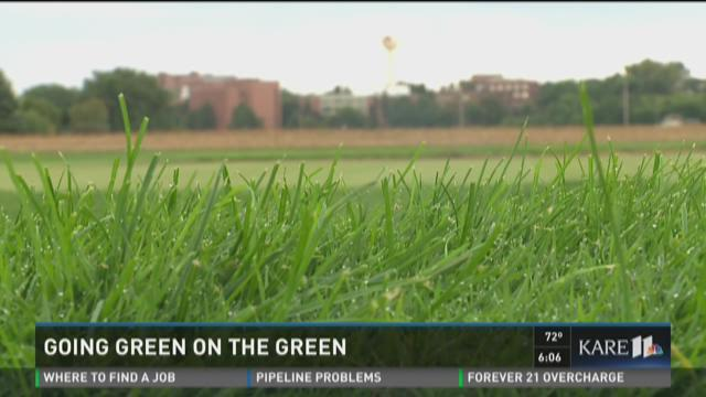 Going green on the green