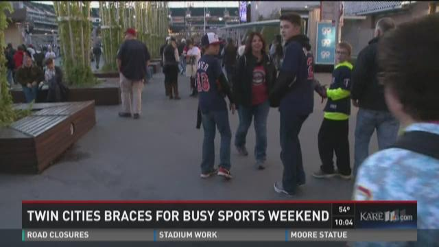 Twin Cities brace for busy sports weekend