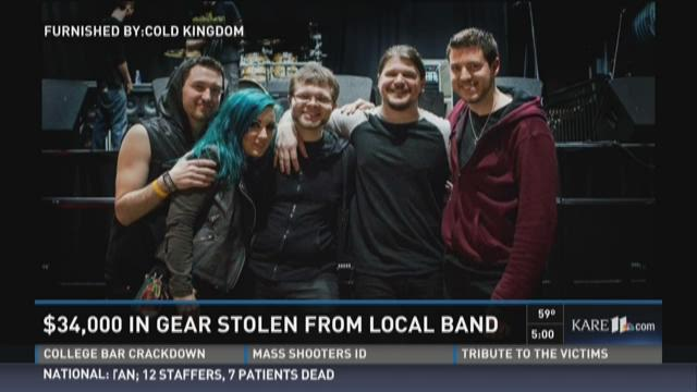 34K in gear stolen from local band