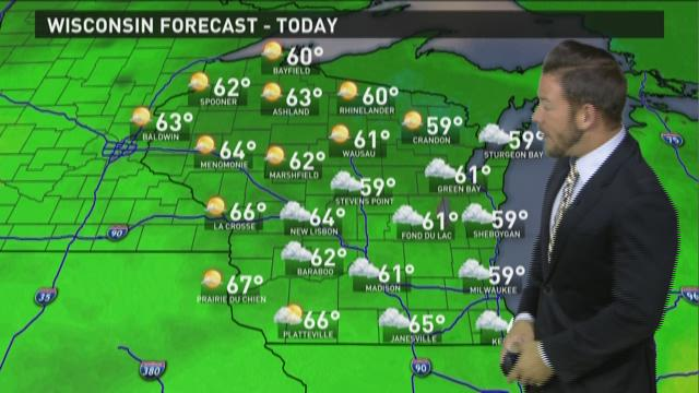 Wisconsin weather forecast for Monday, Oct. 5