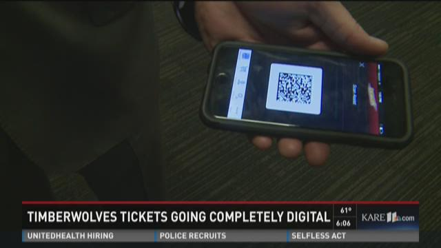 Timberwolves tickets going completely digital