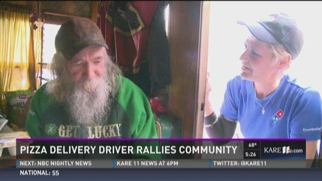 Pizza driver rallies community