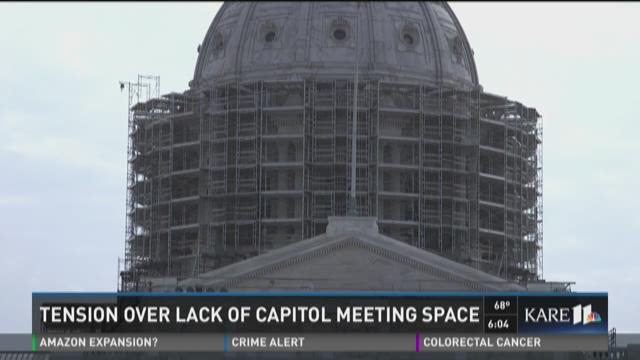 Tension over lack of capitol meeting space