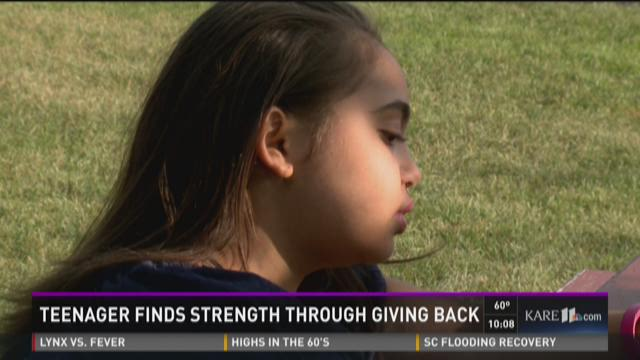 Teenager finds strength through giving back